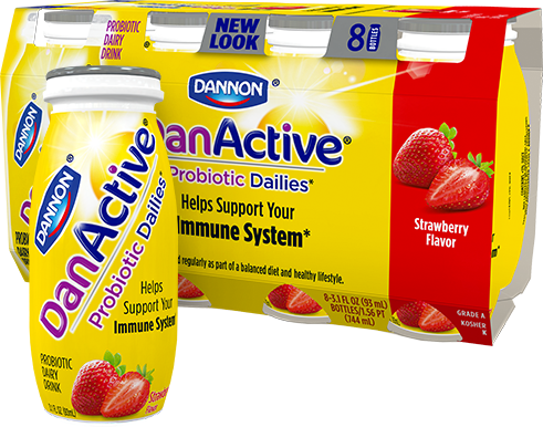 DanActive Strawberry Probiotic Dairy Drink